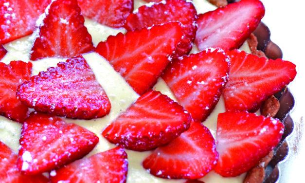 Erdbeer-Vanilletarte