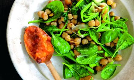 Kichererbsen mit Spinat