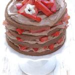 Schokolade-Rhabarbertorte