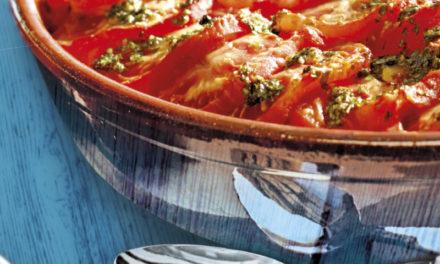 Bola de batata e tomate