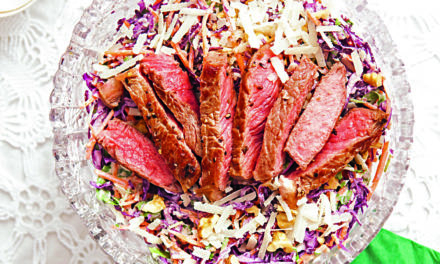 Wintersalat mit Parmesandressing & Steak