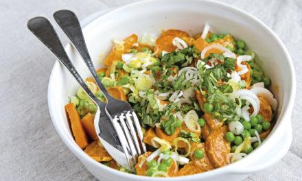 Süßkartoffel-Salat mit Bärlauch-Mayonnaise