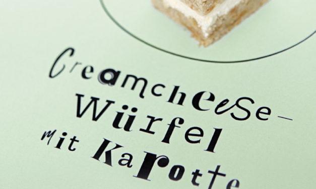 Creamcheese-Würfel mit Karotte Petit-Fours