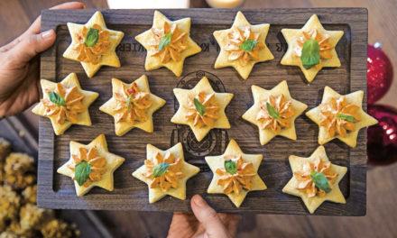 Parmesan-Sterne mit Ajvarcreme