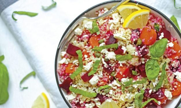 Couscous-Salat mit Roten Rüben und Karotten