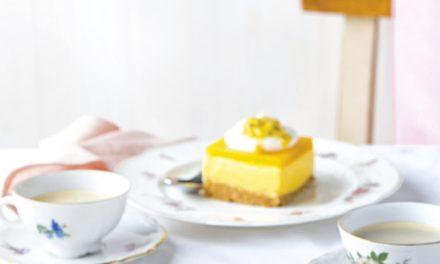 Mango-Cheesecake mit Maracuja