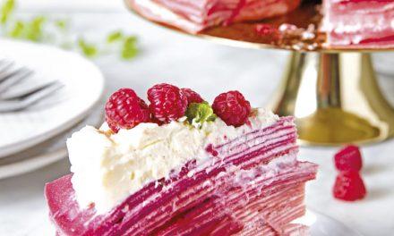 Rote-Rüben Crêpe-Torte
