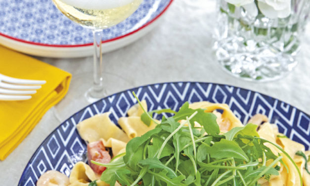Cremige Pappardelle mit Scampi