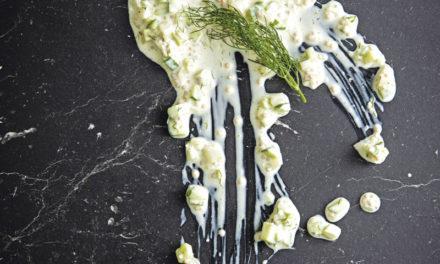 Gurken-Fenchelsugo mit Kren, Senf und Dille