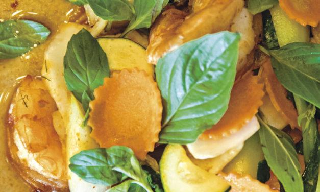 Gebratene Garnelen mit Thai-Basilikum