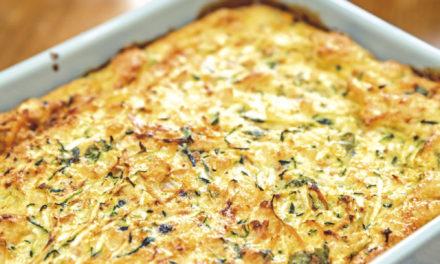Frittata-Auflauf mit Zucchini und Karotten