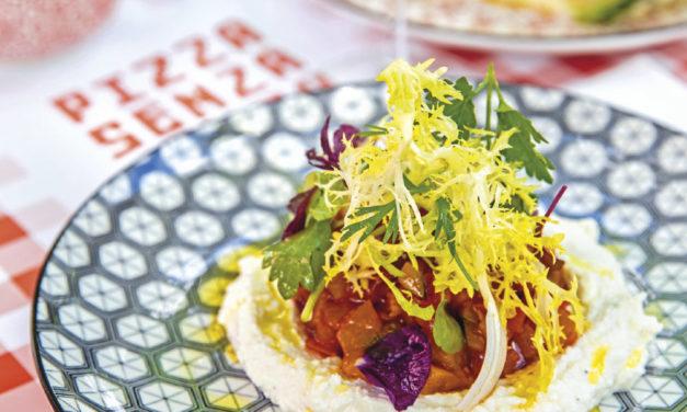 Mediterranes Gemüse mit Ricotta-Zitronencreme und Kräutersalat