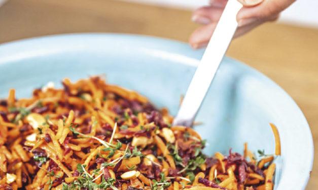 Karottensalat mit Cranberrys