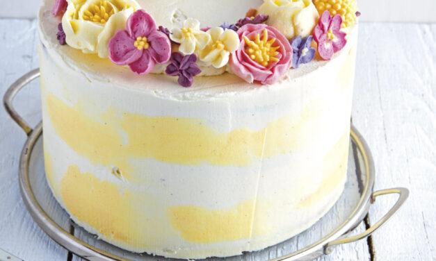 Frühlingsblümchen–Torte